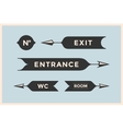 Set of vintage arrows and banners with inscription vector image vector image