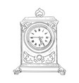 sketch of clock vector image vector image