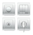 sockets and electric plug outlets 3d vector image vector image