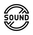 sound ban icon outline vector image vector image