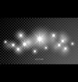 star shine glow sparks lens flare sparkle effect vector image vector image