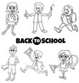 students children back to school cartoon color vector image vector image