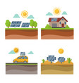 sun solar energy power electricity technology vector image vector image