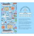 Tourism circle concept design Holiday vacation vector image vector image