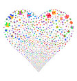 users fireworks heart vector image