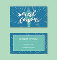 vocal lessons business card with lettering vector image