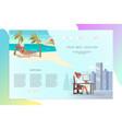 web page dreams vacation vector image vector image