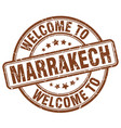 welcome to marrakech brown round vintage stamp vector image vector image