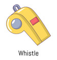 whistle icon cartoon style vector image vector image