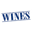wines blue grunge vintage stamp isolated on white vector image vector image