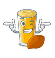 wink lassi mango in a cartoon bottle vector image vector image