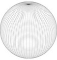 wireframe sphere globe model vector image vector image