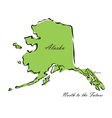 State of Alaska vector image