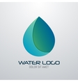 Water drop abstract logo design template vector image