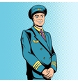 Comics flight captain vector image