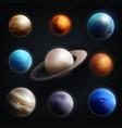 planet realistic icon set vector image
