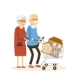 Seniors Couple Buying a Home vector image