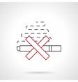 Smoking ban flat line icon vector image