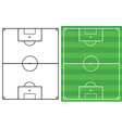 soccer fields vector image