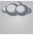 Abstract Cloud with Rain Drops on Transparent vector image
