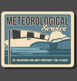 airport meteorological service banner vector image vector image