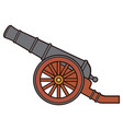 ancient or pirate cannon vector image vector image