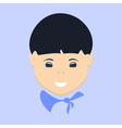 Asian Boy Face Isolated vector image