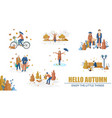 autumn people set collection flat style vector image vector image