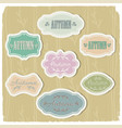 autumn vintage frames set vector image