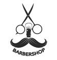 barbershop symbol mustache vector image vector image