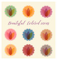 beautiful color badges vector image vector image