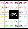 binocular sign felt-pen 33 vector image vector image