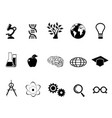 black science research and study icons set vector image vector image