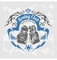 Boxing emblem stock vector image vector image