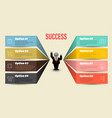 business concepts template vector image vector image