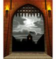 castle gate vector image vector image