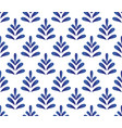 ceramic blue pattern vector image vector image