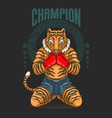 champion fighter prepare for battle vector image vector image