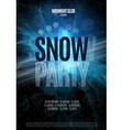 christmas snow party flyer vector image
