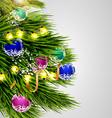 Christmas tree abstract vector image vector image