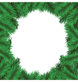 christmas tree frame vector image vector image