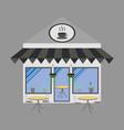 coffee house building facade vector image
