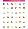 Collection of star icons vector | Price: 1 Credit (USD $1)