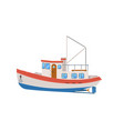 commercial fishing trawler isolated on white icon vector image