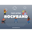 Concert and events rockband banner vector image vector image