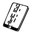 dead pixel smartphone icon simple black style vector image vector image