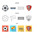 design of soccer and gear icon set of vector image vector image