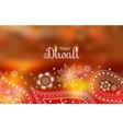 diwali greeting wallpaper with paisley decoration vector image vector image