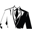 drawing of elegant young fashion man in tuxedo vector image