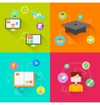 e learning Concept vector image vector image